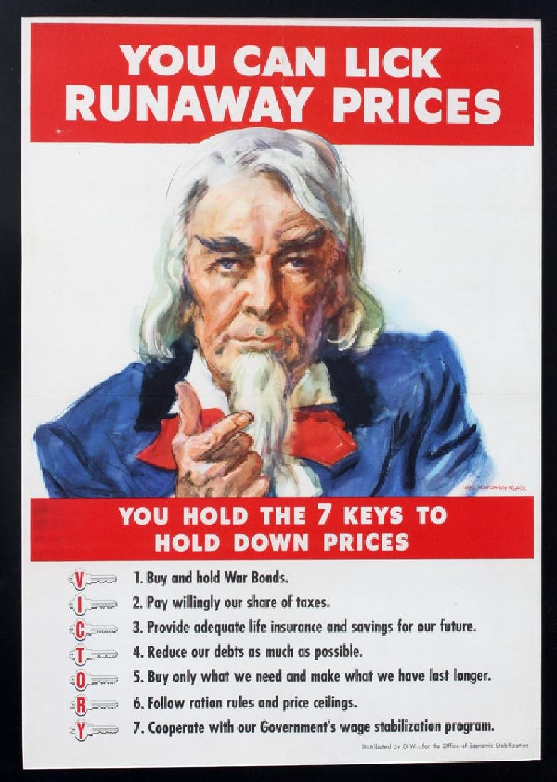 JAMES MONTGOMERY FLAGG PREVENT INFLATION POSTER