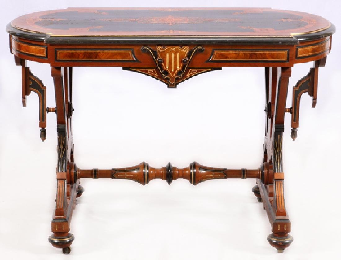 VICTORIAN RENAISSANCE REVIVAL WALNUT TABLE