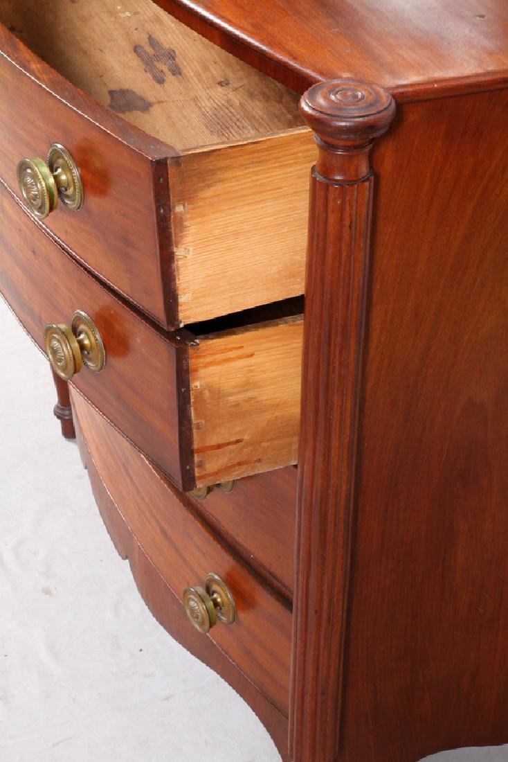 ANTIQUE MAHOGANY 4 DRAWER CHEST, C 1840 - 3
