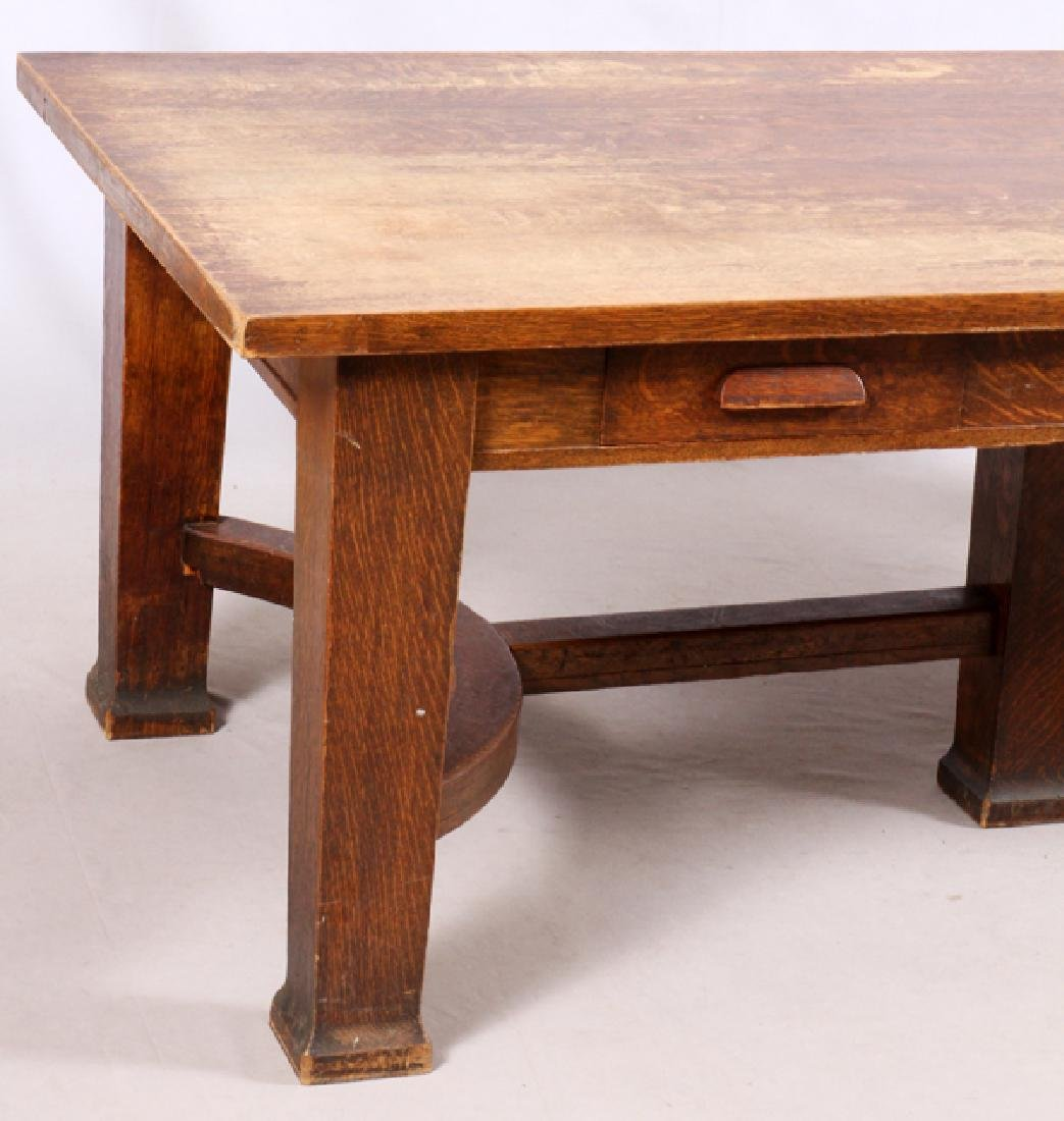 T.G. SELLEW ARTS & CRAFTS STYLE OAK TABLE - 2