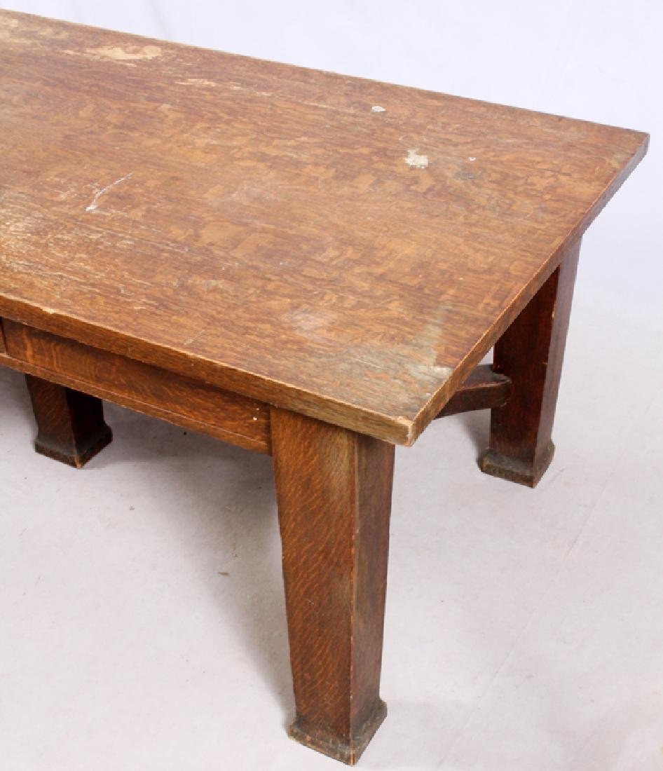 T.G. SELLEW ARTS & CRAFTS STYLE OAK TABLE - 3