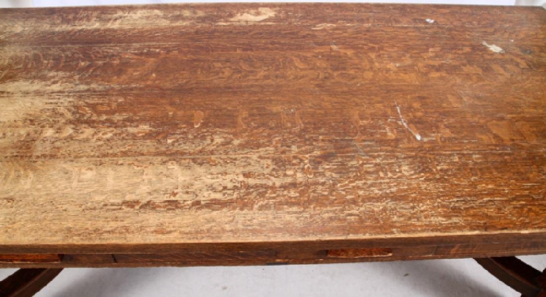 T.G. SELLEW ARTS & CRAFTS STYLE OAK TABLE - 4