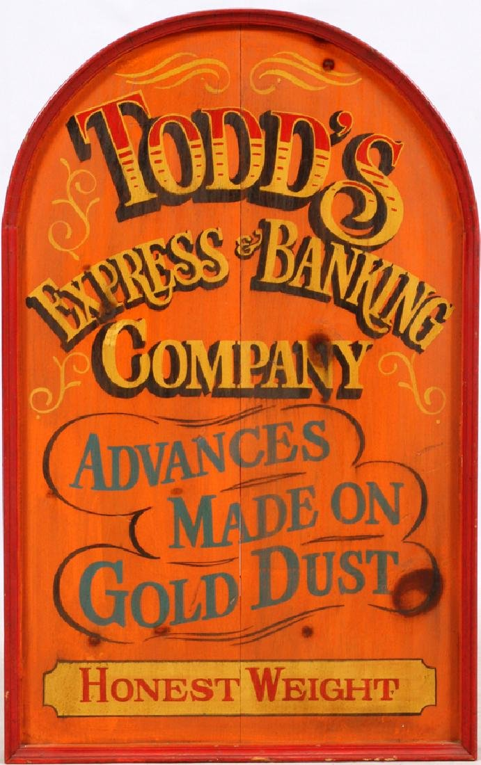 """TODD'S EXPRESS & BANKING SIGN H 36"""", W 22"""""""