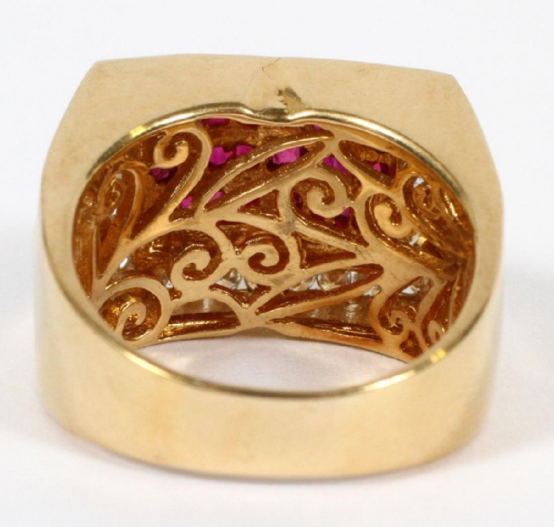 18KT YELLOW GOLD, RUBY, & DIAMOND RING - 3