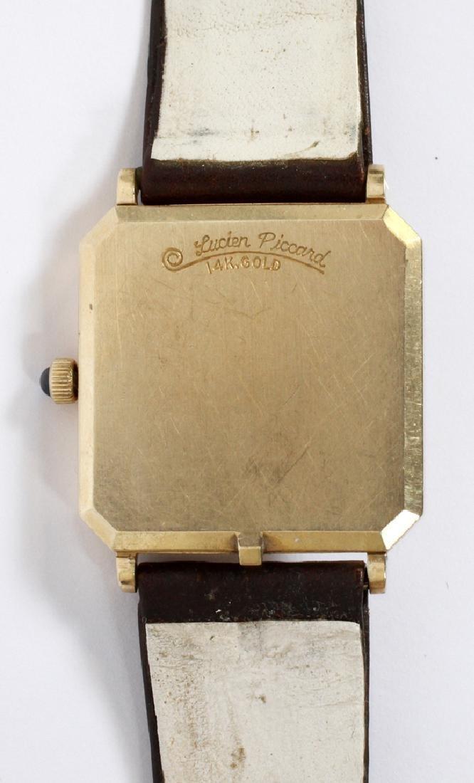 LUCIEN PICCARD GENTLEMAN'S 14KT GOLD WATCH - 3