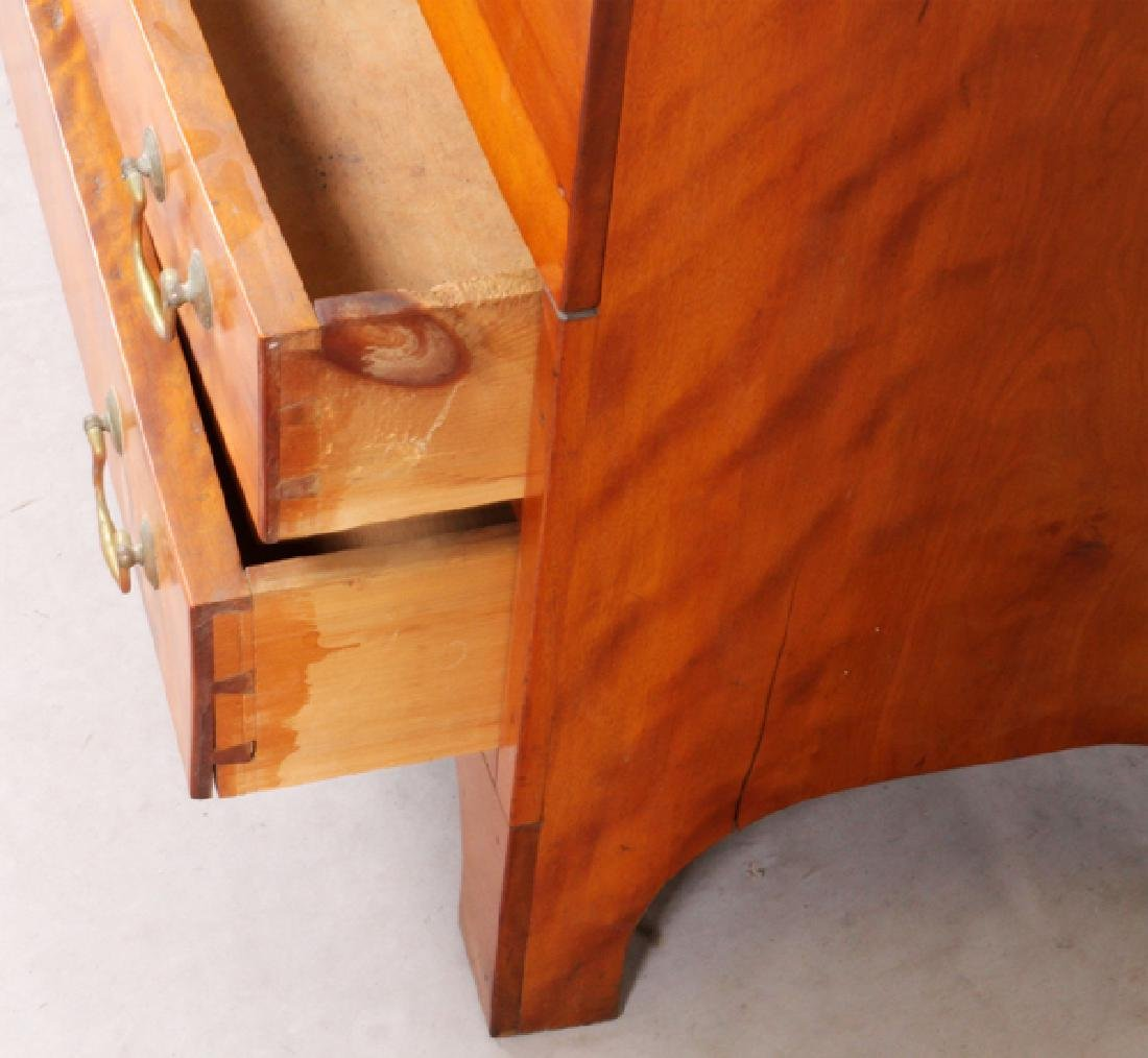 AMERICAN CHERRY BLANKET CHEST OVER TWO DRAWERS - 4