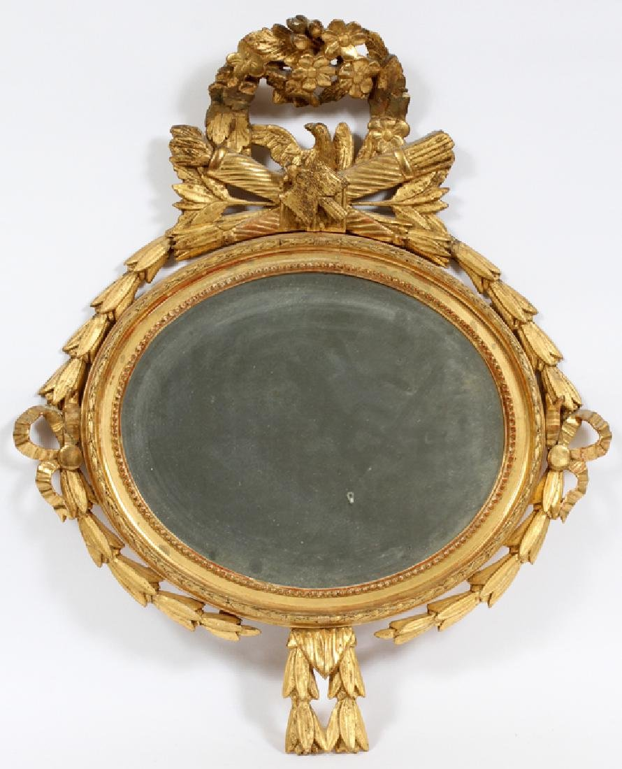 FEDERAL STYLE, GILT WOOD & GESSO MIRROR, C 1900
