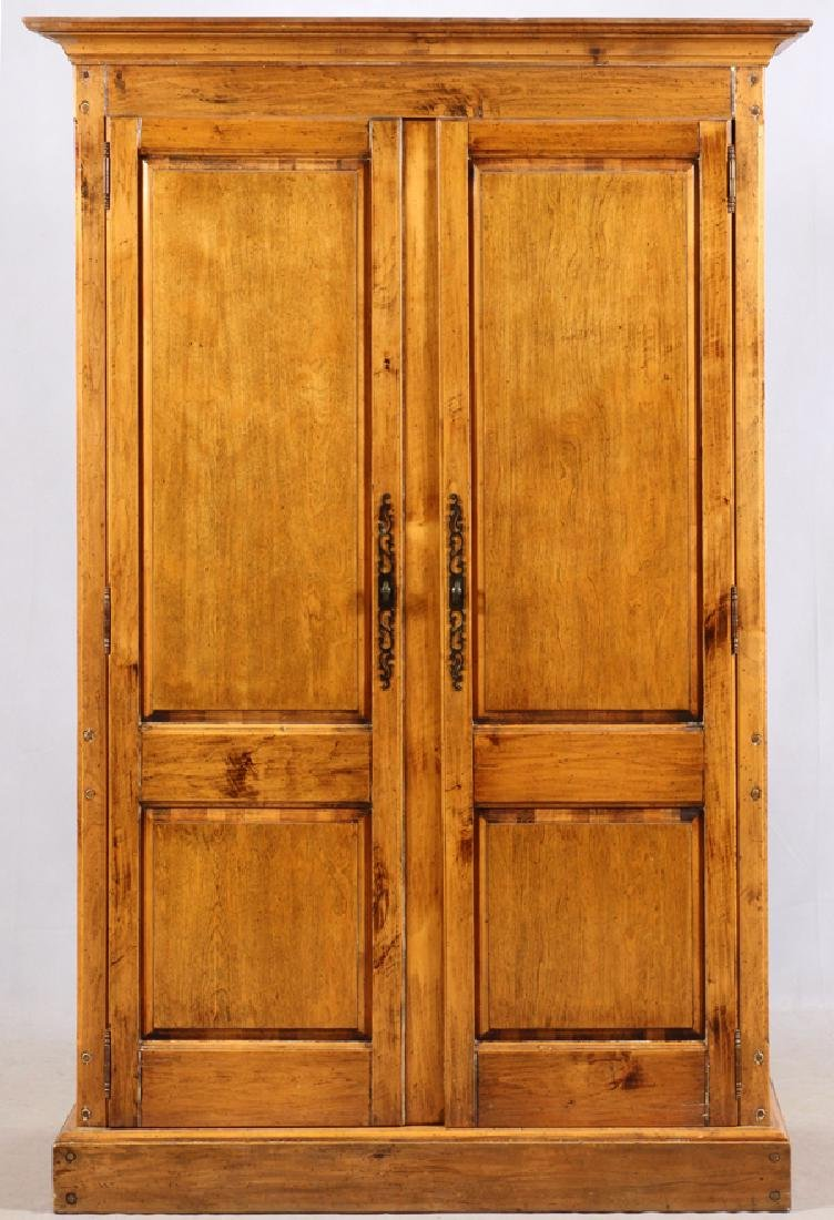 FRENCH PROVINCIAL STYLE WALNUT ARMOIRE
