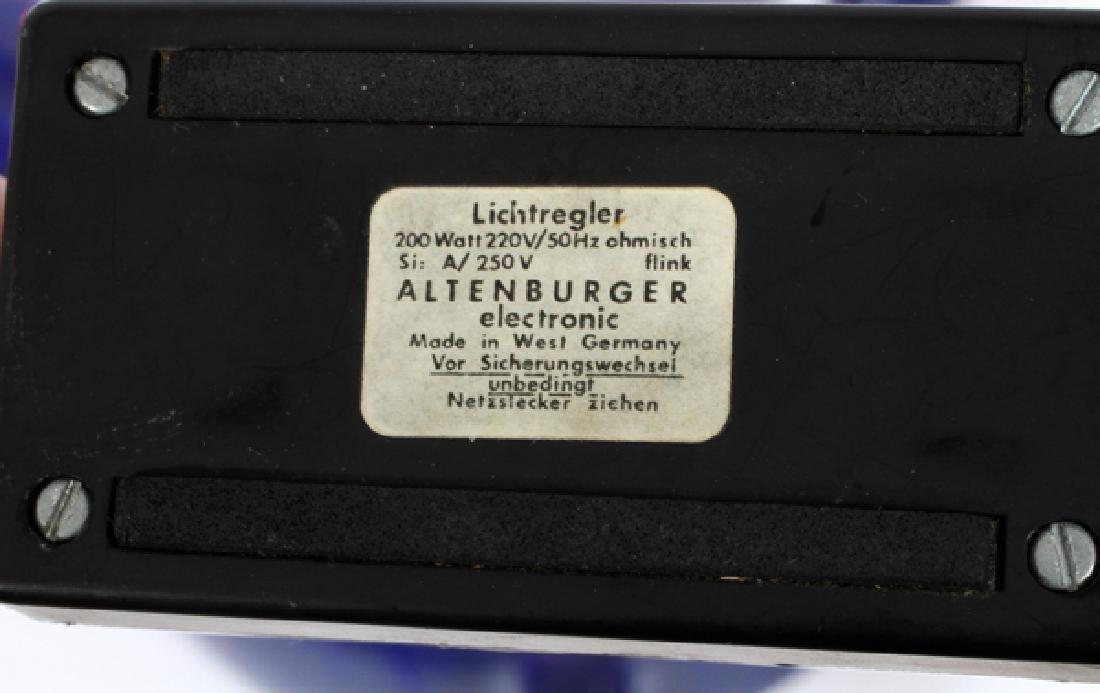 WEST GERMAN ALTNBERG BLUE POTTERY LAMP - 6