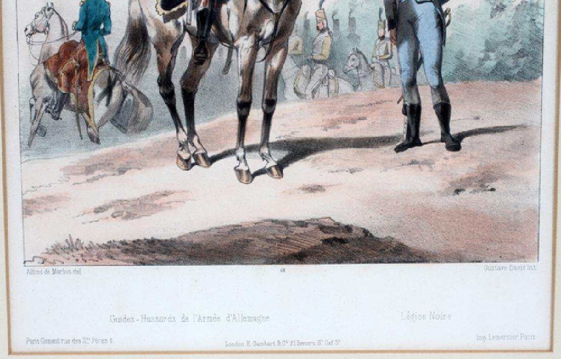 GUSTAVE DAVID MEZZOTINTS PAIR FRENCH SOLDIERS - 2