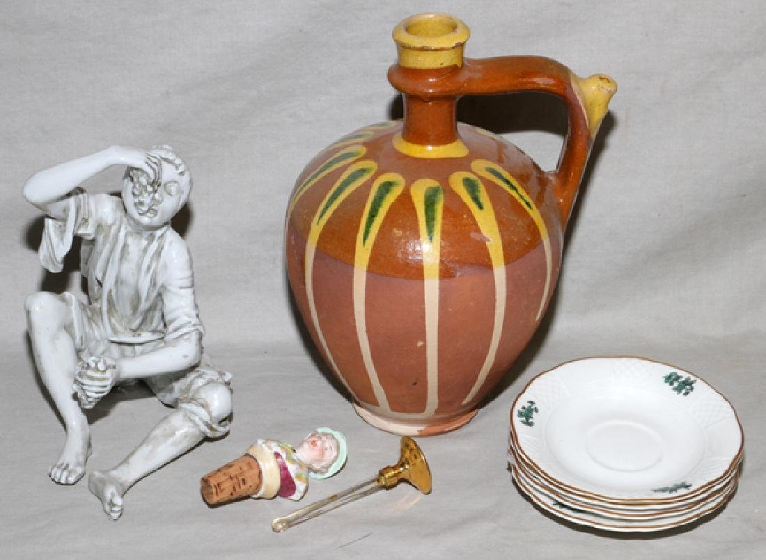 POTTERY MADRID, BOY WITH GRAPES, JUG