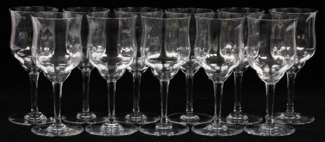 "BACCARAT WINE GLASSES, 11, H 7"", DIA 3"""