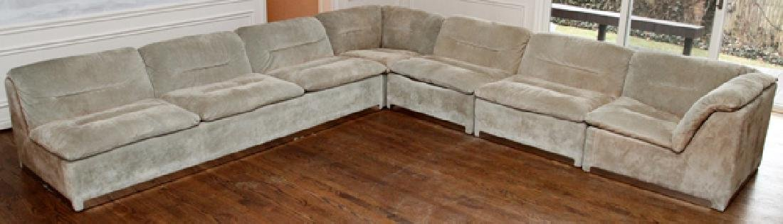 ITALIA PROPOSALS SUEDE SECTIONAL SOFA & END TABLES
