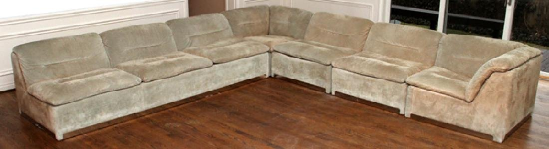 ITALIA PROPOSALS SUEDE SECTIONAL SOFA & END TABLES - 5