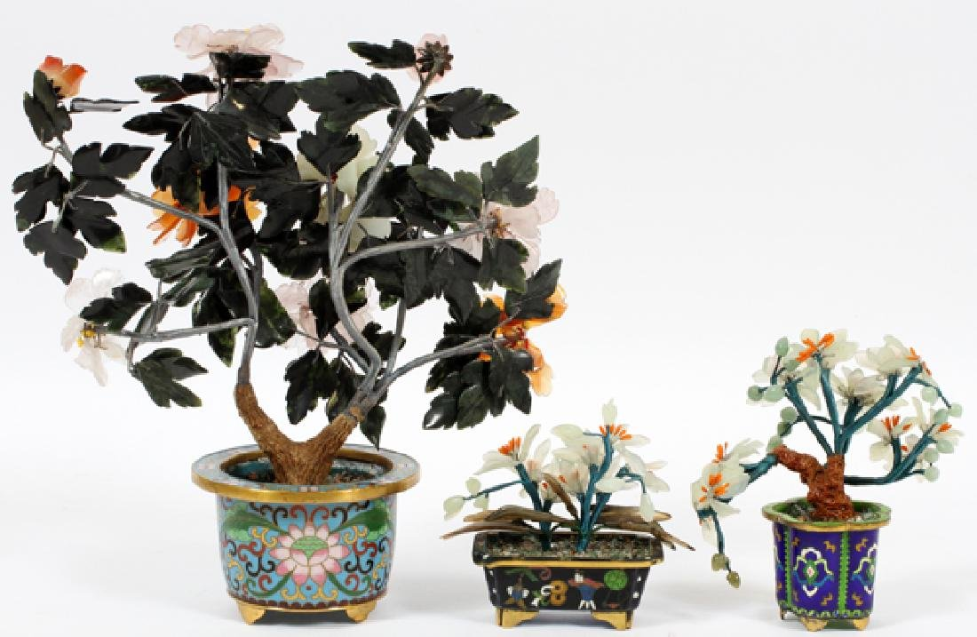 CHINESE CLOISONNE & HARDSTONE TREES, 3 - 3