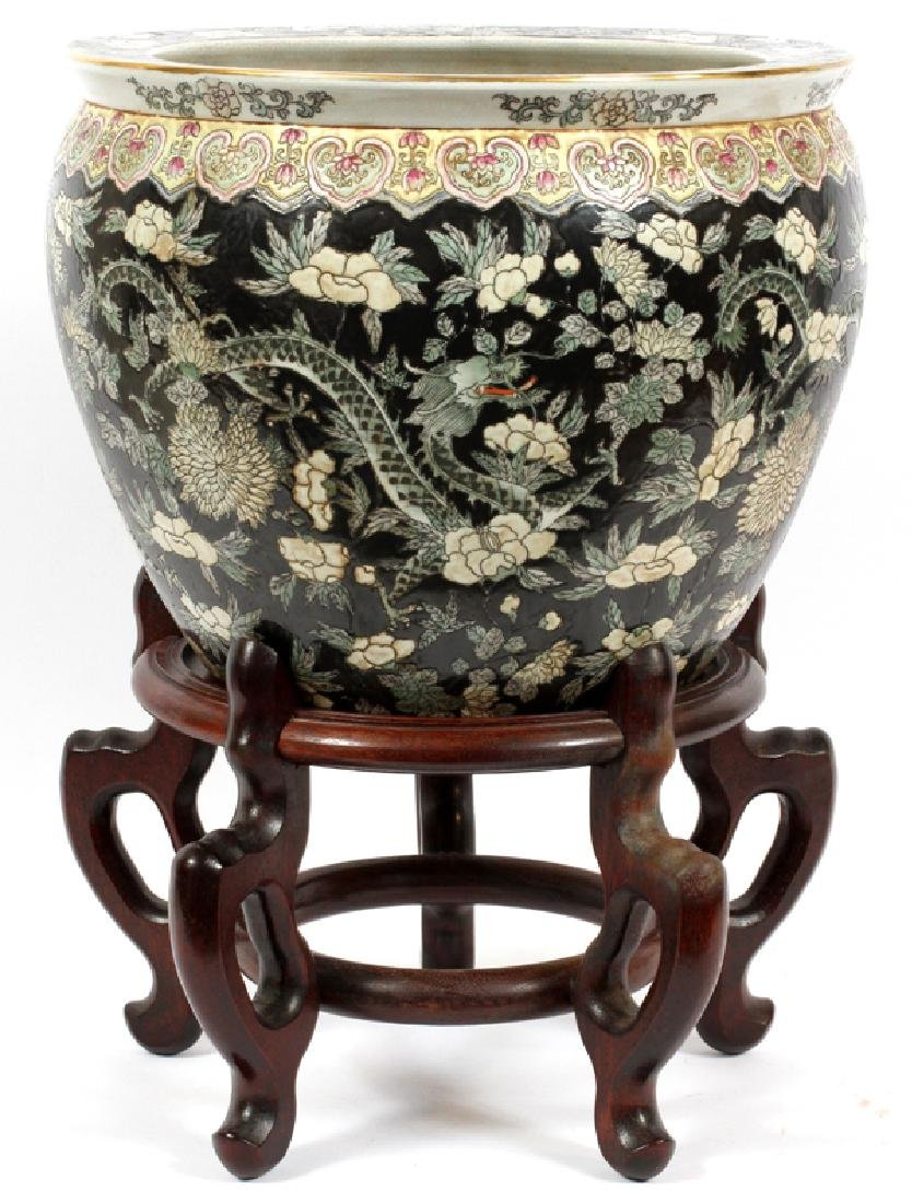 CHINESE PORCELAIN COI BOWL WITH STAND