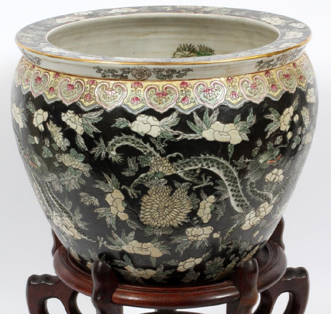 CHINESE PORCELAIN COI BOWL WITH STAND - 3