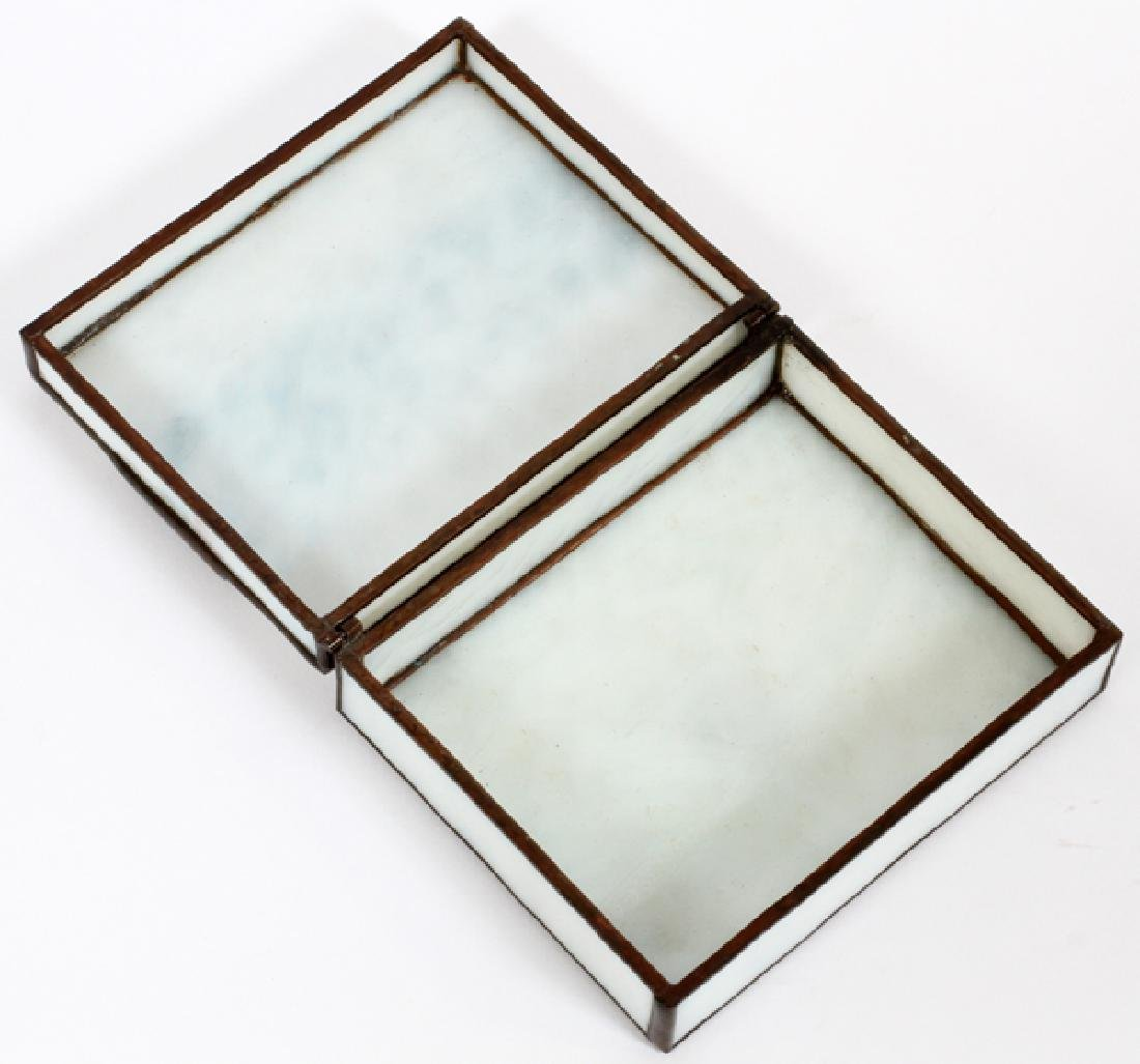 ORIENT AND FLUME HAND ROLLED LEADED GLASS BOX - 3