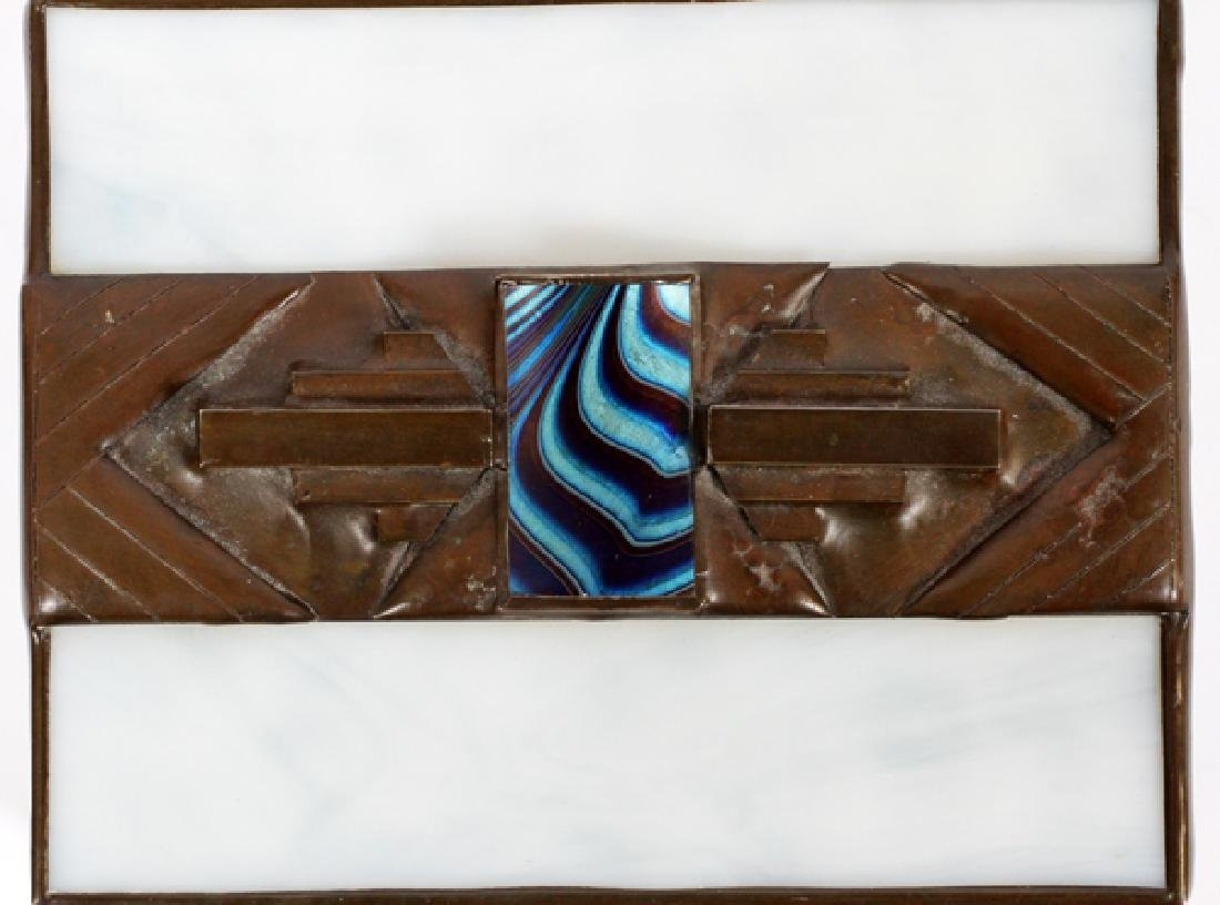ORIENT AND FLUME HAND ROLLED LEADED GLASS BOX - 4