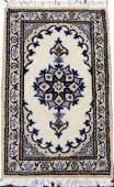 PERSIAN NAIN HAND WOVEN WOOL MAT W 1 4 L 2 2
