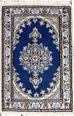 PERSIAN NAIN HAND WOVEN WOOL MAT W 1 4 L 2
