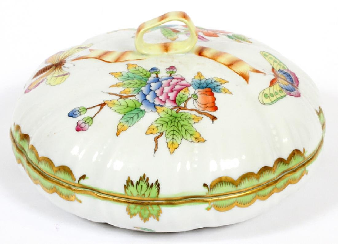 HEREND PORCELAIN COVERED DISH