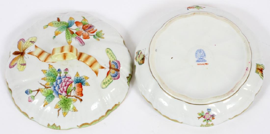 HEREND PORCELAIN COVERED DISH - 2