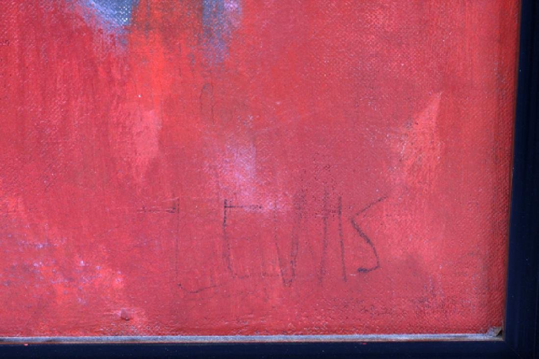 "NORMAN WILFRED LEWIS OIL ON CANVAS ""RED PRESENCE"" - 3"