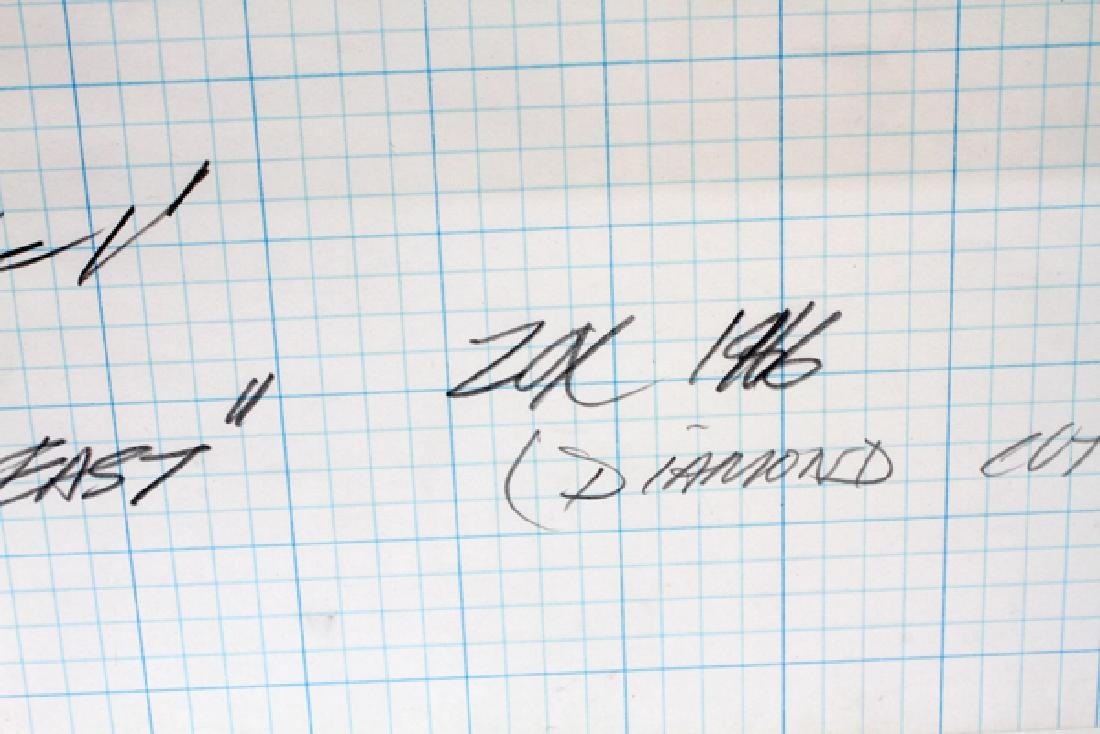 """LARRY ZOX DRAWING ON GRAPH PAPER 1966 """"DUE EAST"""" - 2"""