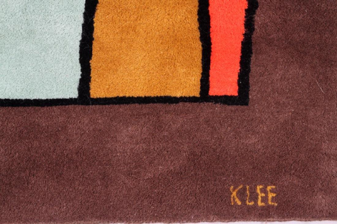 PAUL KLEE DESIGNED WOOL RUG C. 1970'S - 2