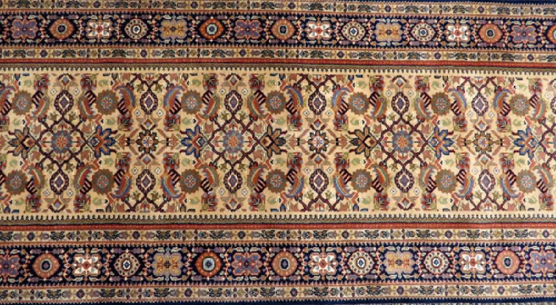 "INDO PERSIAN HANDWOVEN WOOL RUNNER W 2' 6"", L 14' - 3"