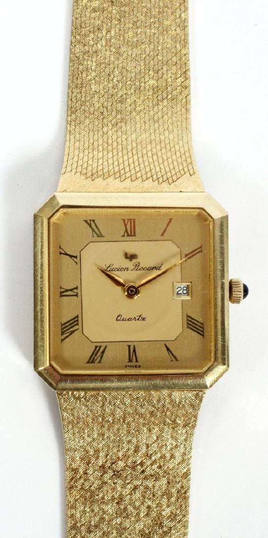 LUCIEN PICCARD GENTLEMAN'S 14KT GOLD WATCH