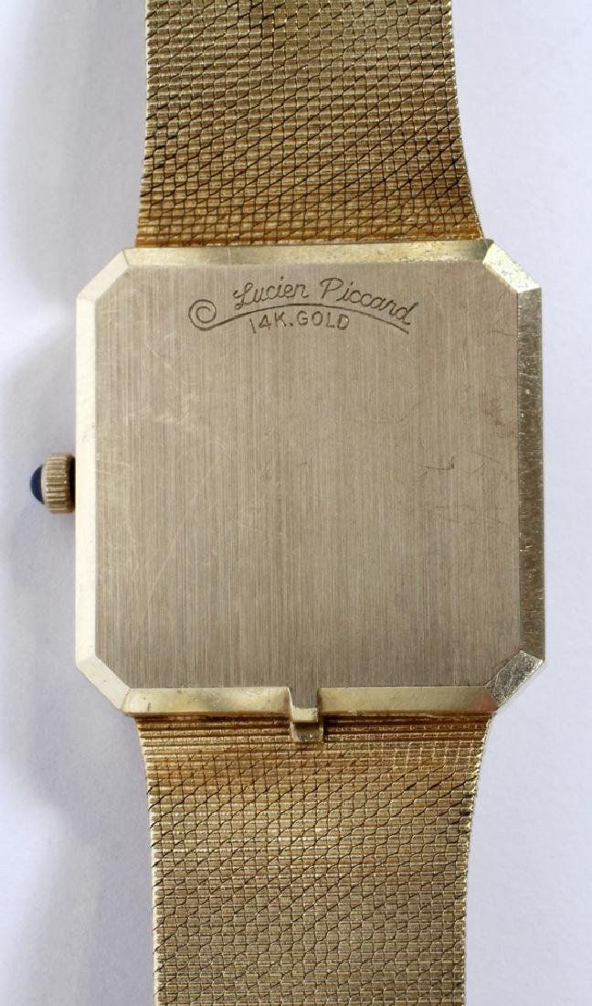 LUCIEN PICCARD GENTLEMAN'S 14KT GOLD WATCH - 3