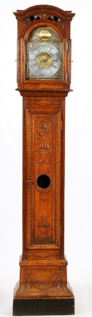BASTIEN HANS MAFAIT 1769 OAK GRANDFATHER CLOCK