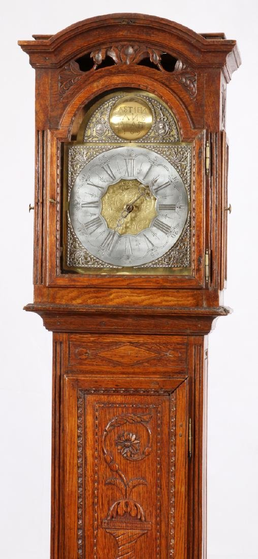 BASTIEN HANS MAFAIT 1769 OAK GRANDFATHER CLOCK - 2
