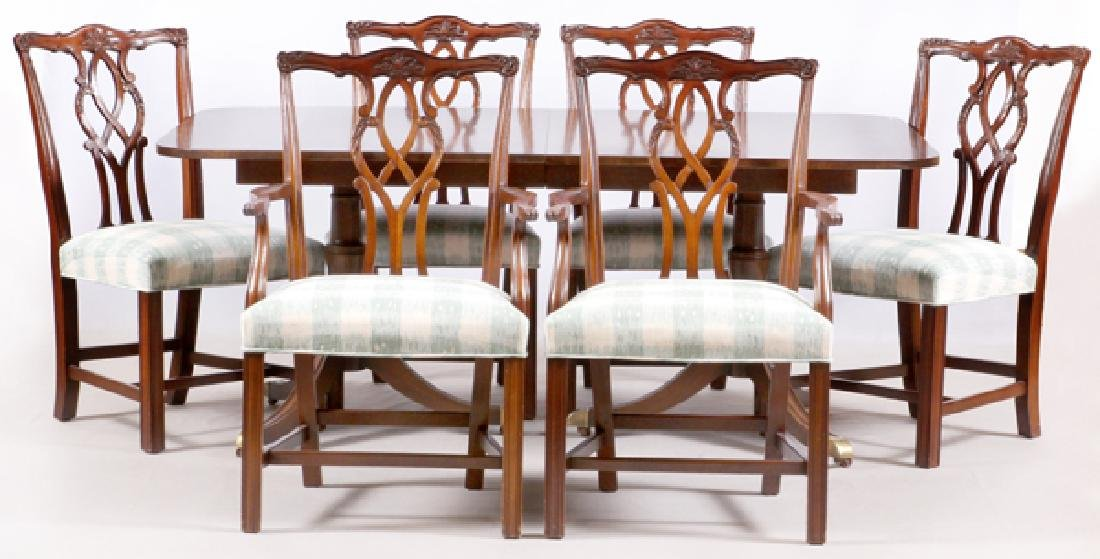 KINDLE MAHOGANY DINING SUITE, SEVEN PIECES