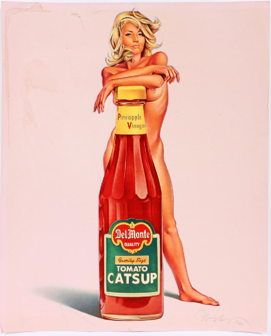 MEL RAMOS SIGNED LITHOGRAPH 1972 DELMONTE CATSUP