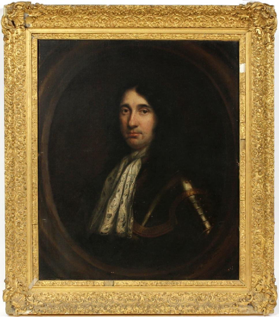 "ENGLISH SCHOOL OIL ON CANVAS 18TH.C., H 29"", W 24"""