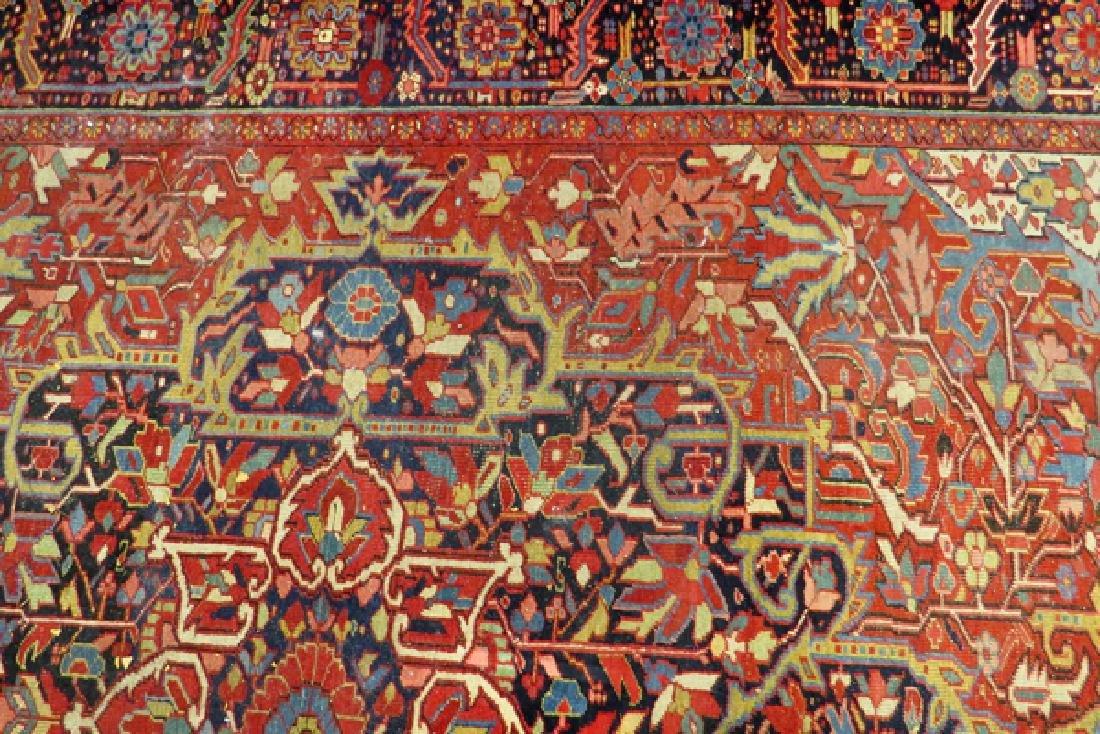 "PERSIAN HAND-WOVEN WOOL CARPET, W 8'3"", L 11'8"" - 4"