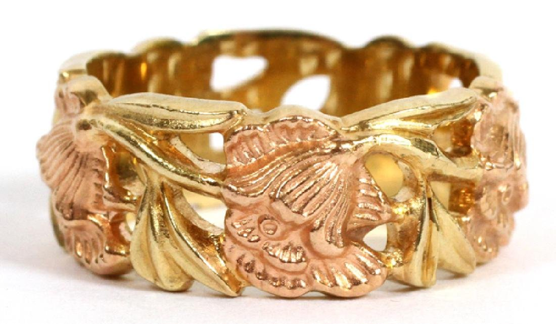 14KT ROSE & YELLOW GOLD BAND