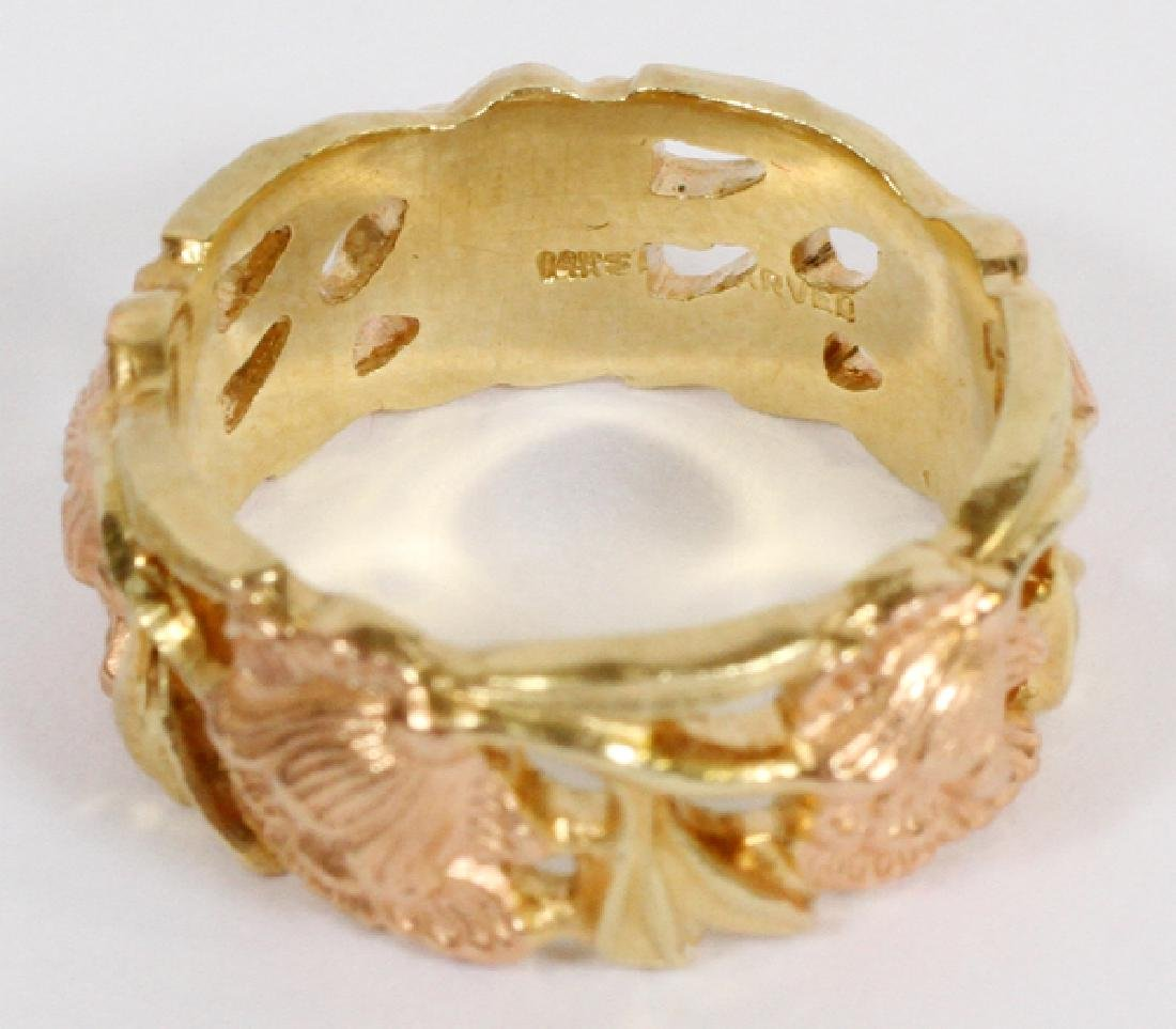 14KT ROSE & YELLOW GOLD BAND - 2