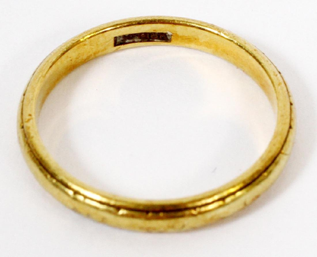 18KT YELLOW GOLD BAND - 2