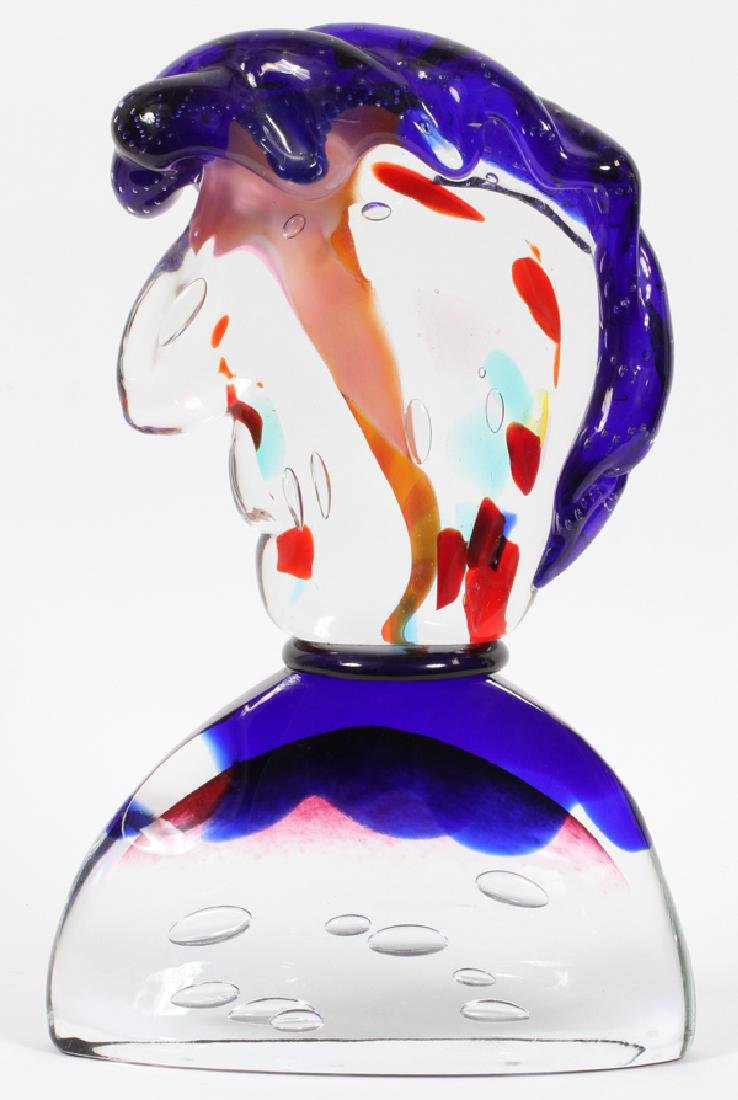 "G. PIGUE MURANO GLASS BUST, H 17"", W 11"", L 3"" - 2"