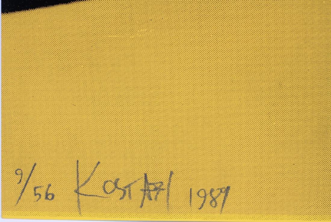 """MARK KOSTABI SCREENPRINT 1989, H 39 5/8"""", W 30"""" - 3"""