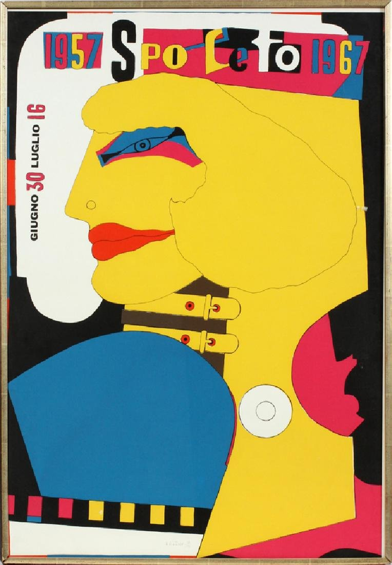 RICHARD LINDNER SILKSCREEN POSTER, 1967