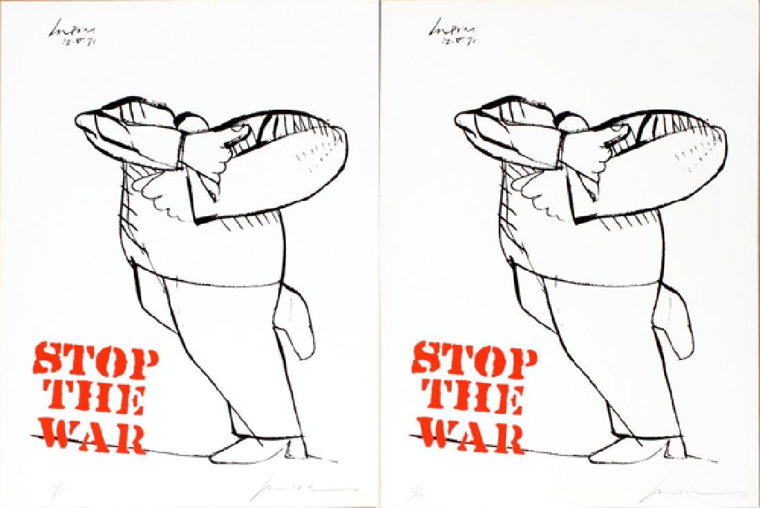 MODERN LITHOGRAPHS, 1970, 2 IDENTICAL