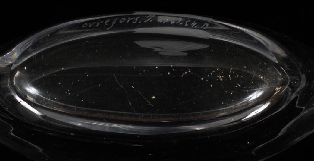 ORREFORS CRYSTAL BOAT SHAPE SMALL BOWL - 2
