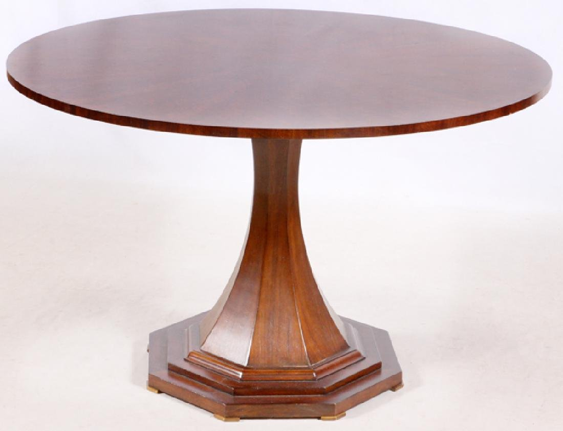 CENTURY FURNITURE CO. MAHOGANY DINING TABLE, 2014