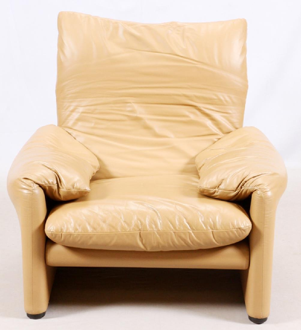 VICTOR MAGISTRETTI MARALUNGA LEATHER SOFAS & CHAIR - 6