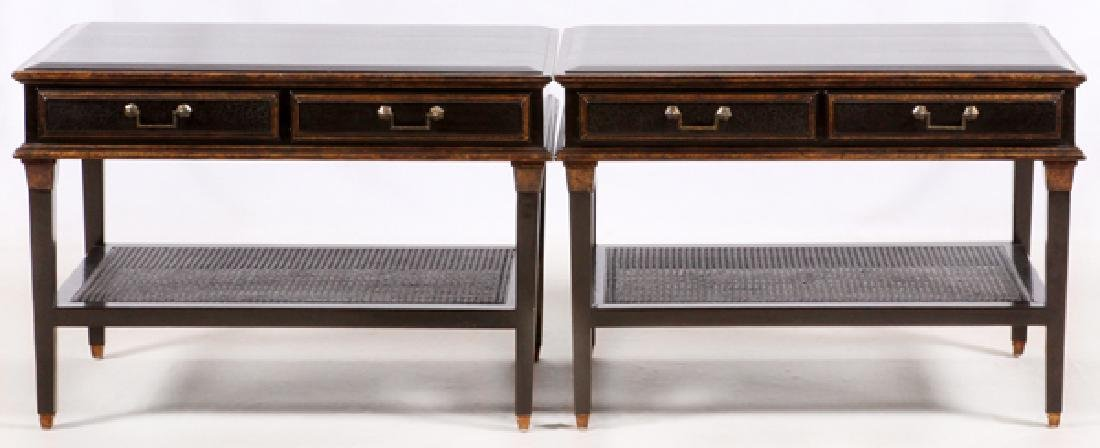 ROSE TARLOW FOR MELROSE HOUSE SIDE TABLES, PAIR